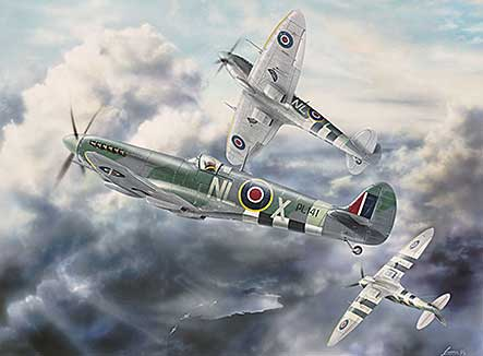 Spitfire LF Mark IX's of 341 Free French Squadron